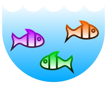 Color fish Vector