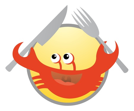 Hungry crab icon Stock Vector - 17701164