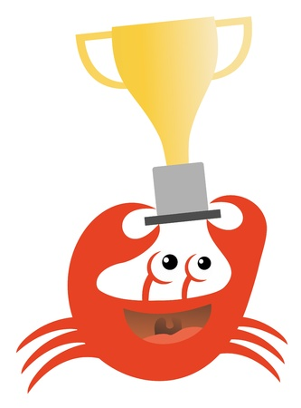 Winner crab Stock Vector - 17701171