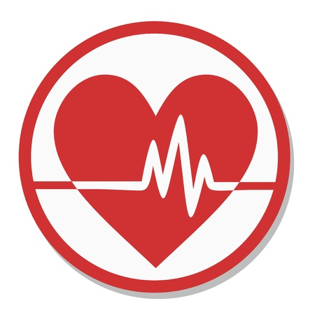 Analysis heart icon Vector