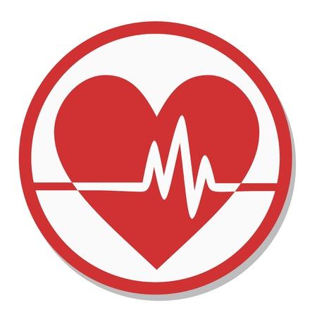 Analysis heart icon 免版税图像 - 17701108