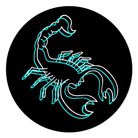 Scorpion art icon Vector