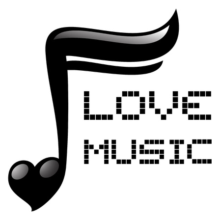 sixteenth note: Love music Illustration