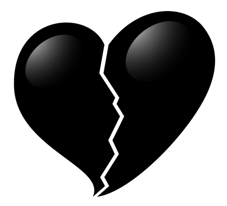 crunch: Broken heart icon Illustration