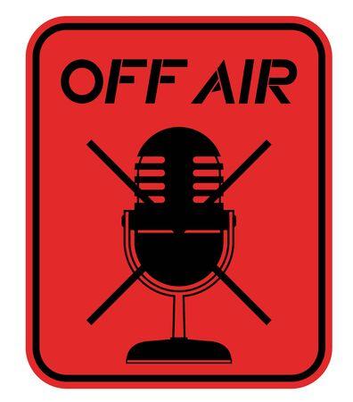 Off air emblem Stock Vector - 17701114