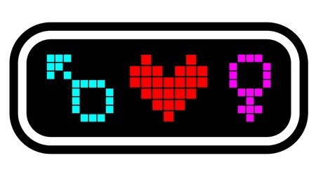 predilection: Pixel love icon