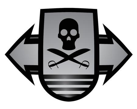 buckler: Pirate emblem