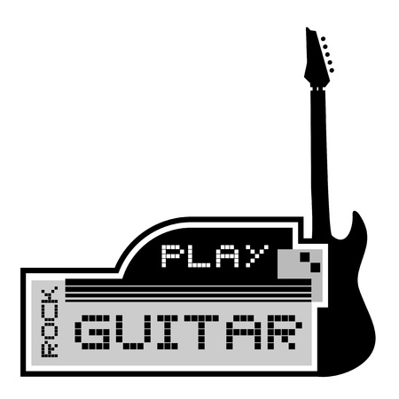 songwriter: Play guitar elegant emblem