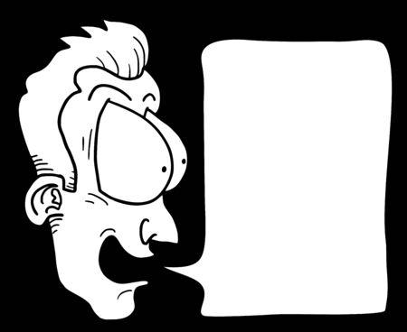 Funny comic face Vector