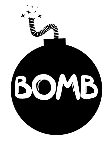 detonating: Bomb Illustration