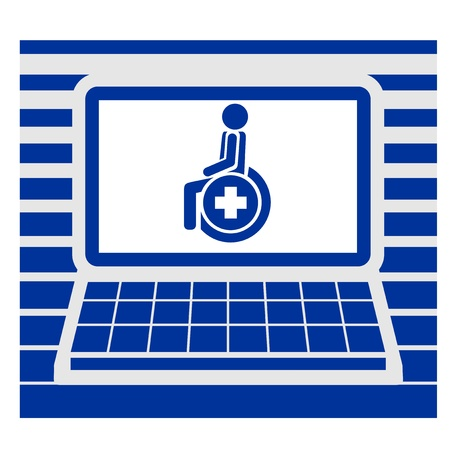 Health screen computer Vector