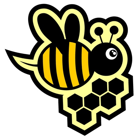abejas panal: Bee icono