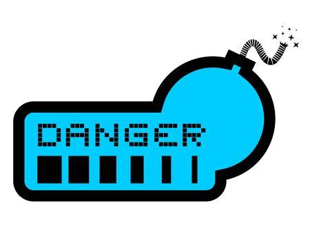 Danger bomb Stock Vector - 17896160