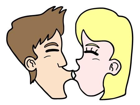 Kiss face Stock Vector - 17895979