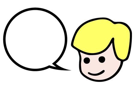 niños platicando: Hablar niño