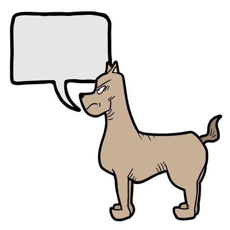 playfull: Talking dog