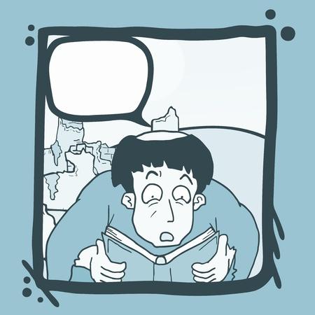 expressive style: Read comic