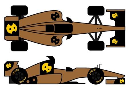 car speed: Racing speed car Illustration