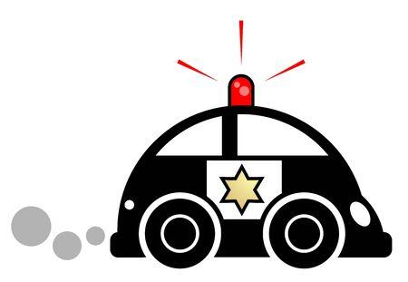 car speed: Speed police car