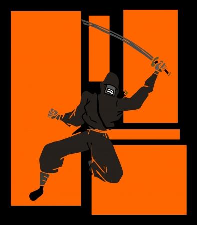 Ninja jump Vector