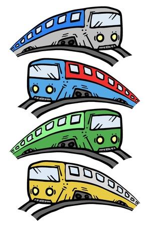 Train draw Vector
