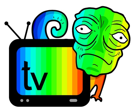Color chameleon television Vector