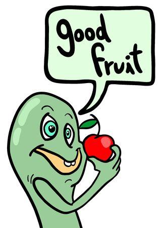 Good fruit comic Illustration