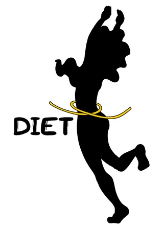 Diet woman Vector