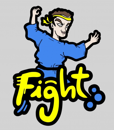 Fight character Vector