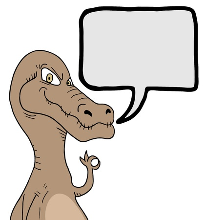 Funny dinosaur comic