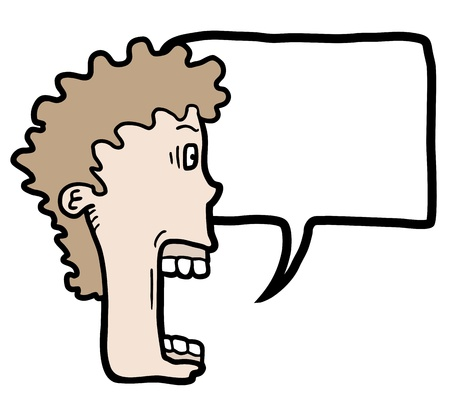 tirade: Face comic talking