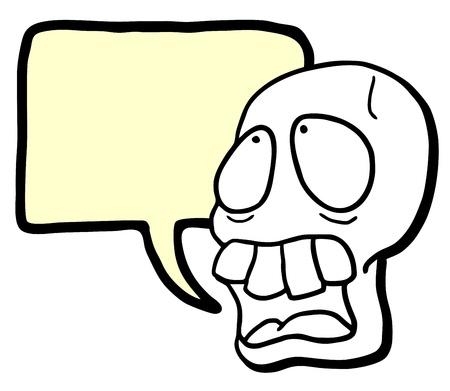 Skull talking