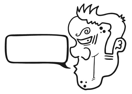 tirade: Face talking Illustration