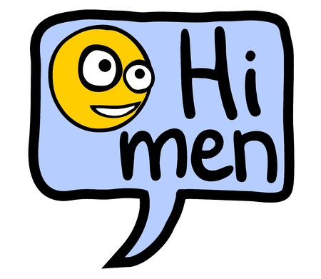 Hi men comic Vector