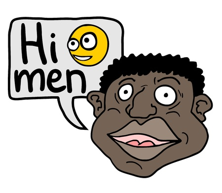Hi men Vector