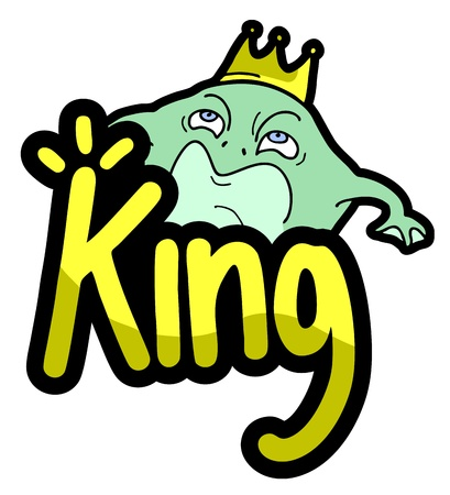 King frog draw Stock Vector - 17946358