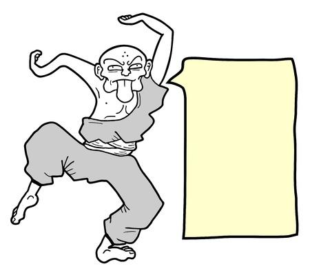 Crazy dance comic Illustration