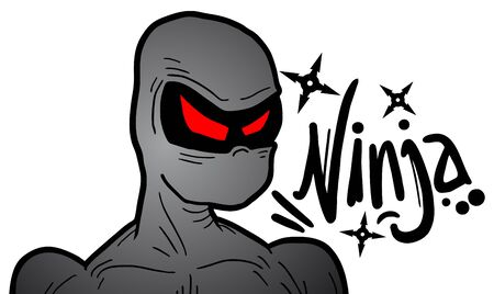 Ninja draw Stock Vector - 17946400