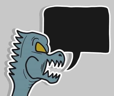 Monster talk Illustration