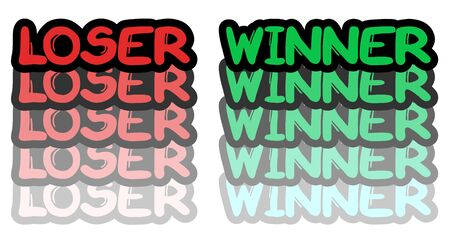 Loser and winner Stock Vector - 17946425