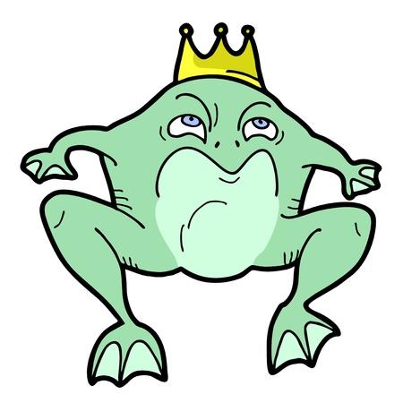 expressive style: King frog Illustration