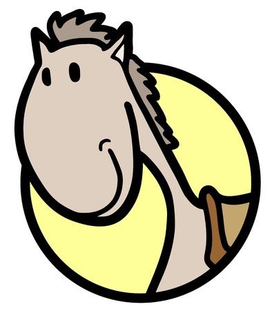 Smile horse icon Stock Vector - 18215571