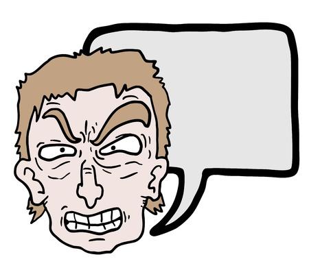 wścieklizna: Ekspresja Cartoon Ilustracja