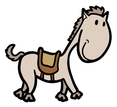 pony tail: Horse draw Illustration