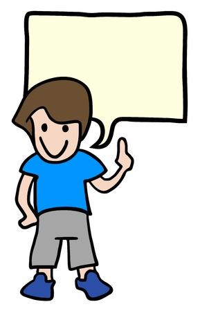 Talking child Illustration