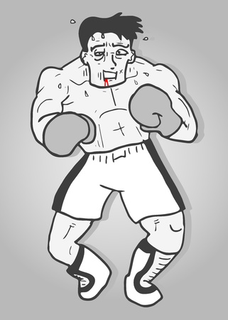 Vintage boxing Vector