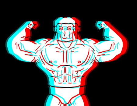 Visual strong man Illustration