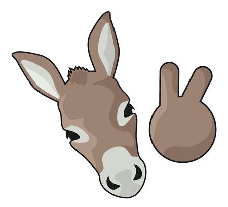 Happy funny donkey Vector