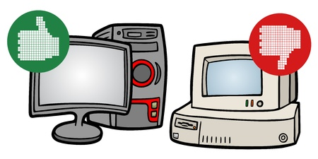 Good and bad computer Vector