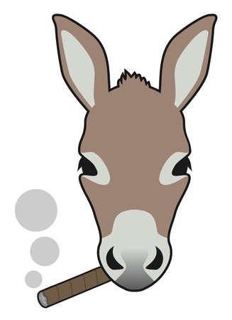 Smoke donkey Vector